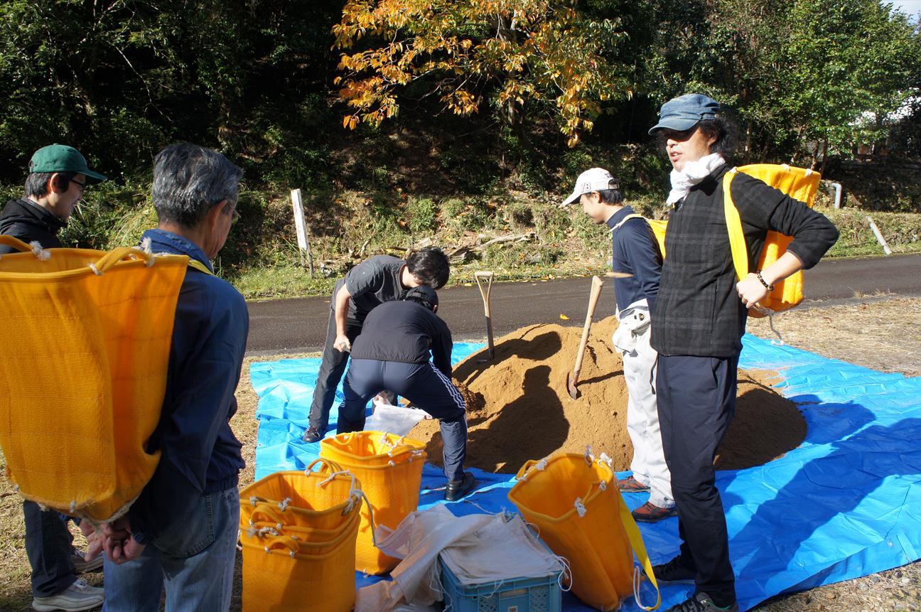 熊野古道修繕作業