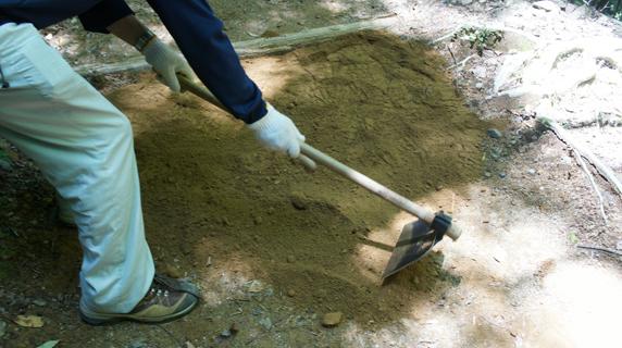 熊野古道修繕作業も10回目を迎えた