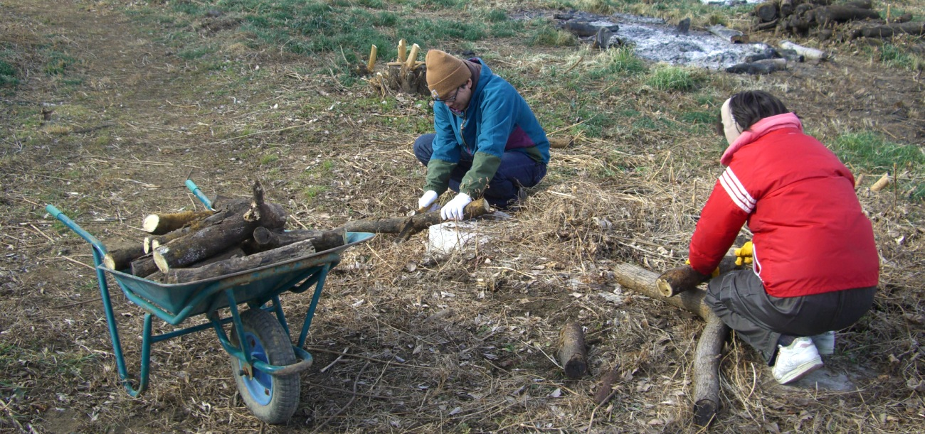 土を耕す作業を繰り返す